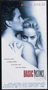 "Basic Instinct (Tri Star Pictures, 1992). Australian Daybill (13"" X 30""). Thriller. Directed by Paul Verhoeven..."