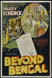 "Beyond Bengal (Showmens Pictures, 1934). One Sheet (27"" X 41""). Style A. Documentary. Directed by Harry Schenc..."