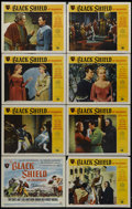 "Movie Posters:Adventure, The Black Shield of Falworth (Universal International, 1954). Lobby Card Set of 8 (11"" X 14""). Adventure. Directed by Rudolp... (Total: 8 Items)"