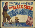 "Movie Posters:Adventure, The Black Swan (20th Century Fox, R-1952). Title Card and Lobby Card (11"" X 14""). Adventure. Directed by Henry King. Starrin... (Total: 2 Items)"