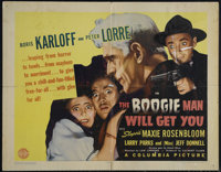 "The Boogie Man Will Get You (Columbia, 1942). Half Sheet (22"" X 28""). Horror Comedy. Directed by Lew Landers..."
