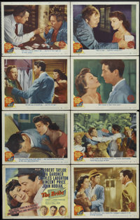 """The Bribe (MGM, 1949). Lobby Card Set of 8 (11"""" X 14""""). Crime. Directed by Robert Z. Leonard. Starring Robert..."""