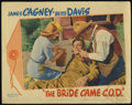 "Movie Posters:Comedy, The Bride Came C.O.D. (Warner Brothers, 1941). Title Card and Lobby Card (11"" X 14""). Comedy. Directed by William Keighley. ... (Total: 2 Items)"