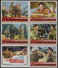 "Movie Posters:War, The Bridge On The River Kwai (Columbia, R-1963). Title Card and 5 Lobby Cards (11"" X 14""). War. Directed by David Lean. Star... (Total: 6 Items)"