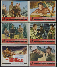 "The Bridge On The River Kwai (Columbia, R-1963). Title Card and 5 Lobby Cards (11"" X 14""). War. Directed by Da..."