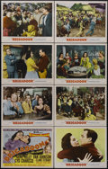 "Movie Posters:Musical, Brigadoon (MGM, 1954). Lobby Card Set of 8 (11"" X 14""). Musical Fantasy. Directed by Vincente Minnelli. Starring Gene Kelly,... (Total: 8 Items)"