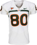 Football Collectibles:Uniforms, 2009 Jimmy Graham Game Worn Miami Hurricanes Jersey - With Photomatch!...