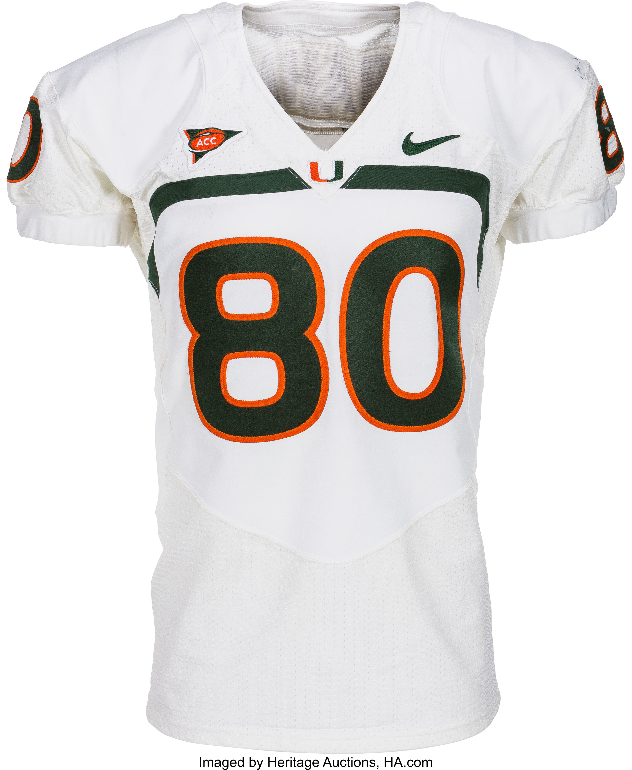 newest ef028 11d4d 2009 Jimmy Graham Game Worn Miami Hurricanes Jersey - With ...