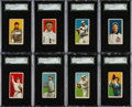 Baseball Cards:Lots, 1909-11 T206 Cycle Cigarettes SGC Graded Collection (8). ...