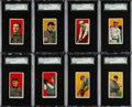 Baseball Cards:Lots, 1909-11 T206 Piedmont/Sweet Caporal SGC Graded Collection (8) WithHoFers. ...