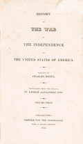 Books:Americana & American History, [Americana]. Charles Botta. History of the War of Independenceof the United States of America. Philadelphia, 1820-1...(Total: 3 Items)