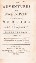 Books:Literature Pre-1900, Tobias Smollett. The Adventures of Peregrine Pickle. London: Printed for the Author, 1751....