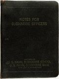 Books:Americana & American History, [U.S. Navy]. Notes for Submarine Officers. New London, CT:United States Naval Submarine Base, 1946. . ...