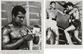 Boxing Collectibles:Autographs, 1970's Muhammad Ali Signed Wire Photographs Lot of 2. ...
