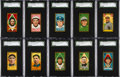 Baseball Cards:Lots, 1911 T205 Sovereign & Hassan SGC 60 EX 5 Collection (10) WithHoFers & Minor Leaguer. ...