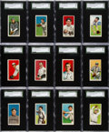 Baseball Cards:Lots, 1909-11 T206 Sovereign 350/460 SGC 70 EX+ 5.5 Collection (12) WithKelley. ...