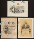 Books:Americana & American History, [Tiffany & Co.]. Three Engraved Chamber of Commerce of theState of New York Annual Banquet Menus. 1900, 1901, 190...(Total: 3 Items)
