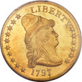 Early Eagles, 1797 $10 Large Eagle, BD-2, High R.4, MS61 PCGS....