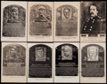 Baseball Cards:Lots, 1953-63 Artvue Black and White Hall of Fame Plaque Postcard Type 1 & Type 2 Collection (36)....