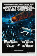 "Movie Posters:Science Fiction, When Worlds Collide/The War of the Worlds Combo (Paramount, R-1977). One Sheet (27"" X 41""), Uncut Ad Mat, & Cut Ad Mats (2) ..."