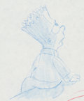 Animation Art:Production Drawing, The Simpsons Bart Simpson Production Drawing (Fox, c.1991)....