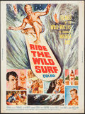 "Movie Posters:Sports, Ride the Wild Surf (Columbia, 1964). Poster (30"" X 40""). Sports.. ..."