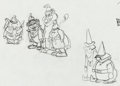 Animation Art:Production Drawing, Banana Splits in Hocus Pocus Park Layout Animation DrawingGroup of 4 (Hanna-Barbera, 1972).... (Total: 4 Original Art)