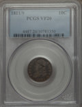 Bust Dimes: , 1811/09 10C VF20 PCGS. PCGS Population (8/64). Mintage: 65,180.Numismedia Wsl. Price for problem free N...