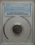 Early Half Dimes, 1800 H10C -- Holed -- PCGS Genuine. XF Details. NGC Census:(10/94). PCGS Population (21/134). Mintage: 40,000. Numismedia ...
