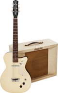 Musical Instruments:Electric Guitars, 1957 Danelectro U1 White Ostrich Solid Body Electric Guitar andModel 78A Artist Guitar Amplifier.... (Total: 2 Items)