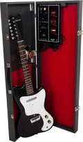Musical Instruments:Electric Guitars, Circa 1967 Silvertone Model 1451 Amp-In-Case Black Solid BodyElectric Guitar, Serial # 185 14519....