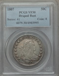 Early Half Dollars: , 1807 50C Draped Bust VF30 PCGS. PCGS Population (130/643). NGCCensus: (68/461). Mintage: 301,076. Numismedia Wsl. Price fo...
