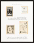 Books:Fine Press & Book Arts, [Bookplates]. Collection of Eleven Bookplates of Actors. [N.p.,n.d.] ... (Total: 3 Items)