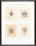 Books:Americana & American History, [Bookplates]. Collection of Fourteen Bookplates from Charleston,South Carolina [Charleston, n.d., though circa 1700's to 18...(Total: 3 Items)