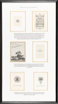 Books:Fine Press & Book Arts, [Bookplates]. Collection of Nine Bookplates from AmericanPresidents or the White House. [N.p., n.d.] All bookplatesattrac... (Total: 2 Items)