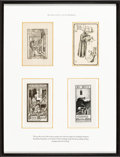 Books:Fine Press & Book Arts, [Bookplates]. Collection of Sixteen Bookplates Featuring MedievalMonks. [N.p., n.d.] ... (Total: 4 Items)