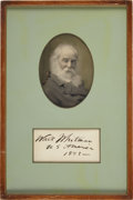 Autographs:Authors, Walt Whitman Signature. ...