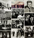 Books:Prints & Leaves, [John F. Kennedy]. Archive of Approximately Sixty-Five Photographsand Press Prints Relating to John F. Kennedy. ...