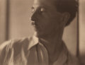 Photographs, Margrethe Mather (American, 1885-1952). Edward Weston, 1921.Platinum. 7-3/8 x 9-1/2 inches (18.7 x 24.1 cm). Signed and...