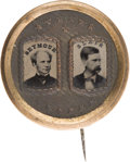 Political:Ferrotypes / Photo Badges (pre-1896), Seymour & Blair: Large Ferrotype Jugate....