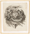 Books:Americana & American History, [Bookplates]. Twelve 18th C. English and French Bookplates inJacobean and Chippendale Styles. [England, France, 1701-1769]....(Total: 2 Items)