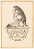 Books:Americana & American History, [Bookplates]. Five Bookplates by Henry-André. [France,1893-1906].... (Total: 2 Items)