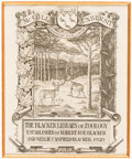 Books:Americana & American History, [Bookplates]. Eight Bookplates with Distinctive Borders. [American,late 19th, early 20th C.]. ... (Total: 2 Items)