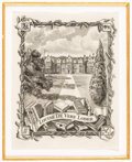 Books:Americana & American History, [Bookplates]. Ten British Country Houses and Their OwnersBookplates. [Britain, ca. 1890]. ... (Total: 2 Items)
