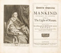 Books:First Editions, Sir Matthew Hale. The Primitive Origination of Mankind....London: 1677....