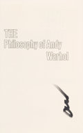 Books:Art & Architecture, Andy Warhol. The Philosophy of Andy Warhol (From A to B and Back Again). New York: Harcourt Brace Jovanovich, [1975]...