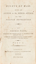 Books:Americana & American History, Thomas Paine. The Rights of Man [Parts I & II]. [Boundwith:] The Genuine Trial of Thomas Paine... Londo...