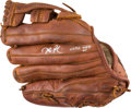 Baseball Collectibles:Others, 2006 Dustin Pedroia Game Used Signed Fielder's Glove. ...