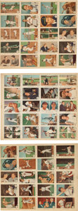 Baseball Cards:Sets, 1959 Fleer Ted Williams Uncut Sheet Near set (60/80) - With #68 TedSigns for 1959. ...