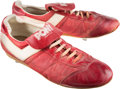 Baseball Collectibles:Others, 1980's Reggie Jackson Game Worn Cleats. ...